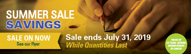 Summer Sale Savings - Sale Ends July 31, 2019 - While quantities last