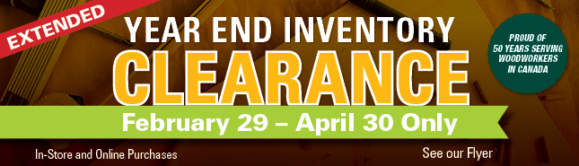 Year End Inventory Clearance - February 29 to March 31 Only